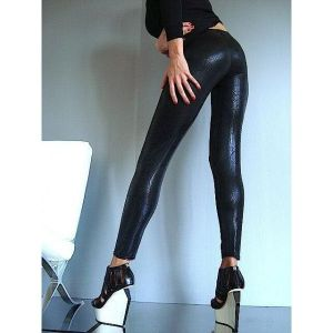 Black leggings under the skin