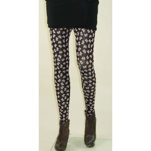 Black leggings with butterfly print
