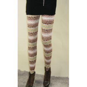 Brown leggings speckled