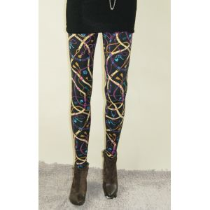 Stylish leggings with bright print