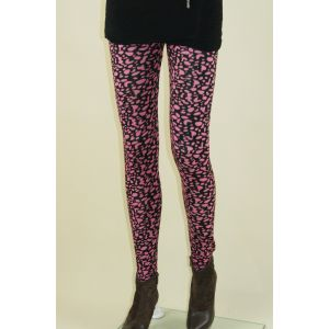 Black leggings with pink print