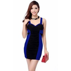 Черно Голубое Платье С Доставкой