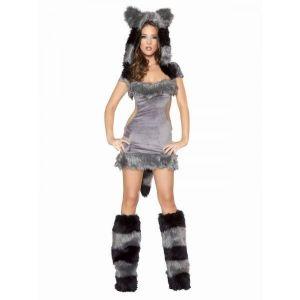 Озорной костюм сексуальной кошечки серый - Карнавальные костюмы