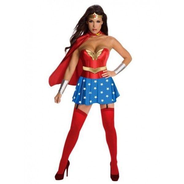Эротичный костюм Супер женщины красный