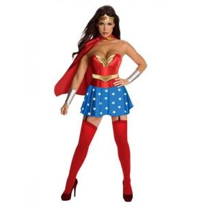 Erotic costume Super women red