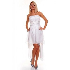 Evening dress. White.
