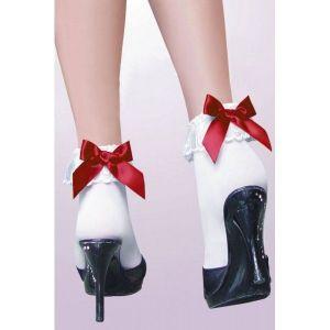 Белые носочки с бантиком - Чулки