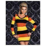 Разноцветное платье в полоску по оптовой цене