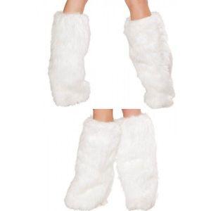 White fur leg warmers. Артикул: IXI22983