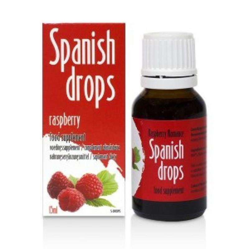 Stimulating drops of Spanish Drops Raspberry Romance (15ml)