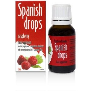Stimulating drops of Spanish Drops Raspberry Romance (15ml)
