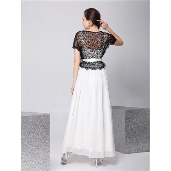 Black and white evening dress. Артикул: IXI23156