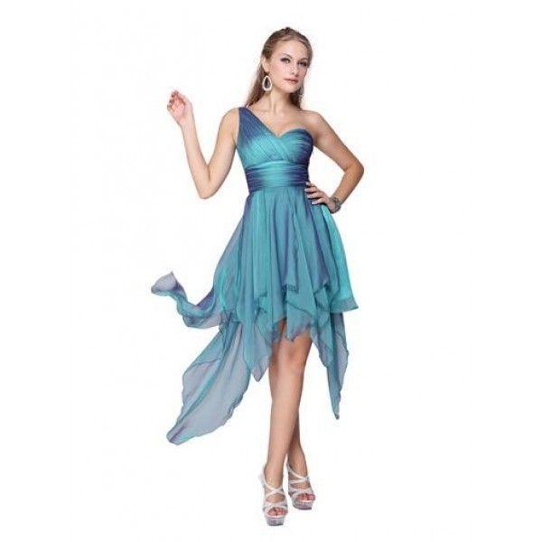 РАСПРОДАЖА! Синее коктейльное платье на одно плече