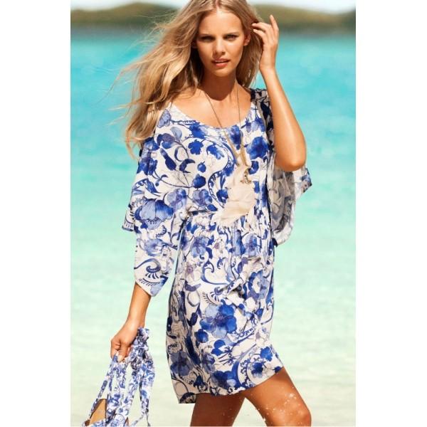 Купить онлайн Легкое хлопчатобумажное летнее платье фото цена акция распродажа