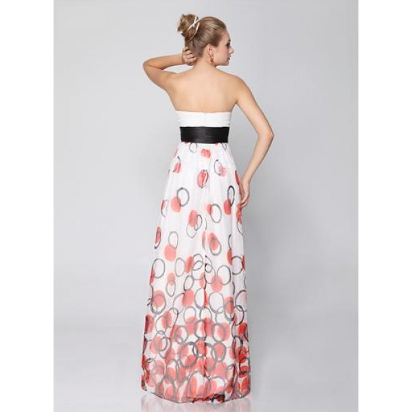 Dress without straps with red rose. Артикул: IXI23424