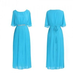 Closed blue evening dress. Артикул: IXI23426