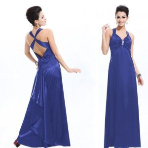 SALE! Elegant blue evening dress