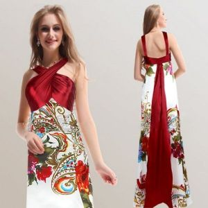 Gorgeous dress with Oriental print. Артикул: IXI23550