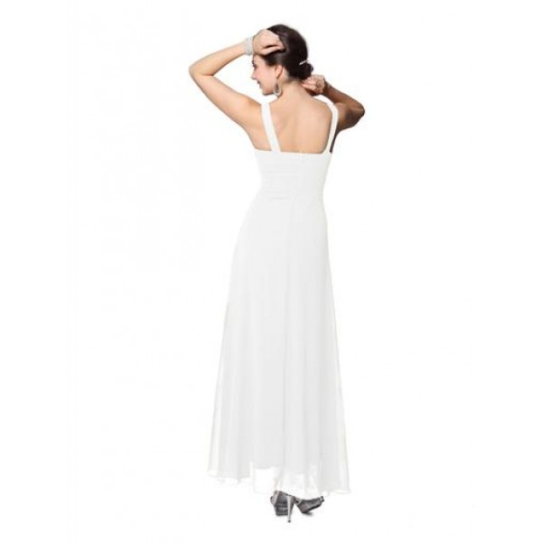 Elegant white dress with shimmering rhinestones. Артикул: IXI23568