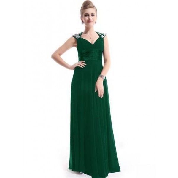 Зеленое платье с мерцающими пайетками