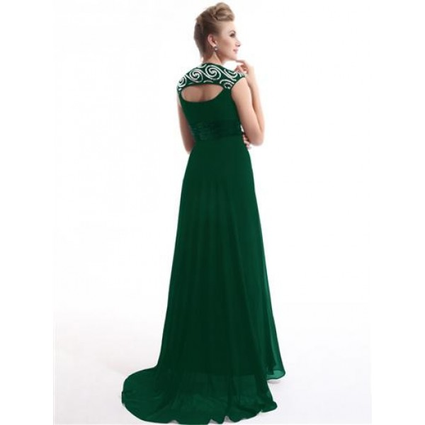 Green dress with shimmering sequins. Артикул: IXI23576