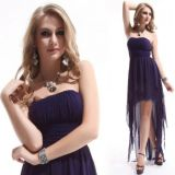 Dress with a long skirt and wedges