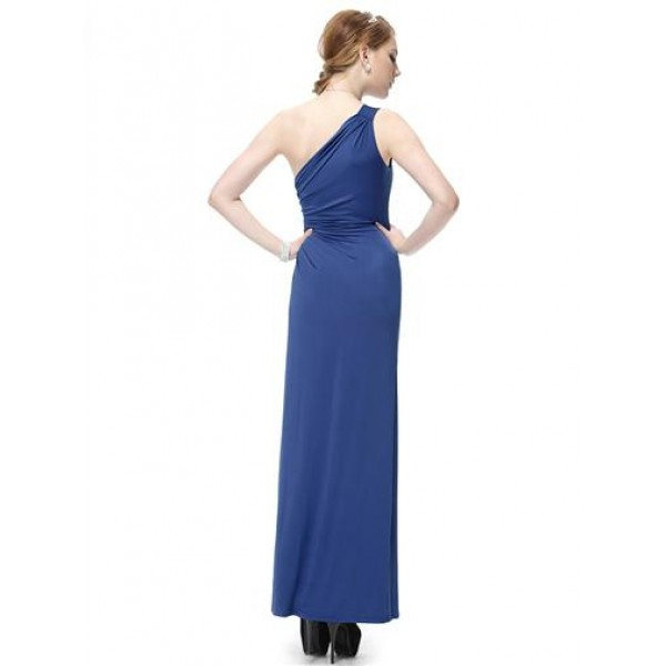Dress one shoulder with original brooch. Артикул: IXI23701