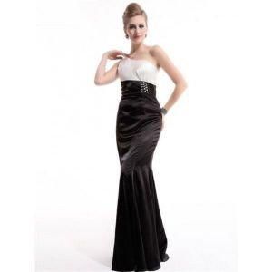 Black and white dress with shimmering rhinestones