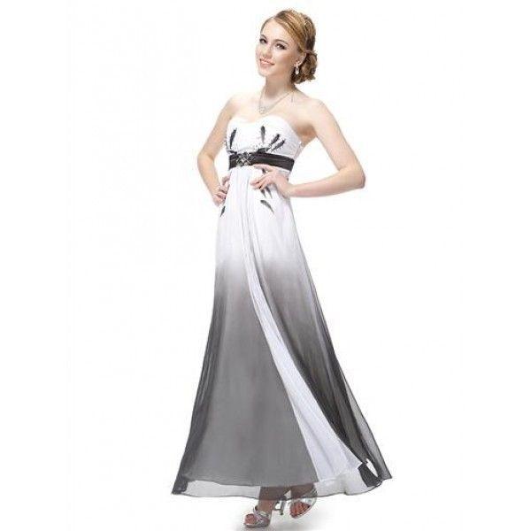 Платье без бретель с периливом
