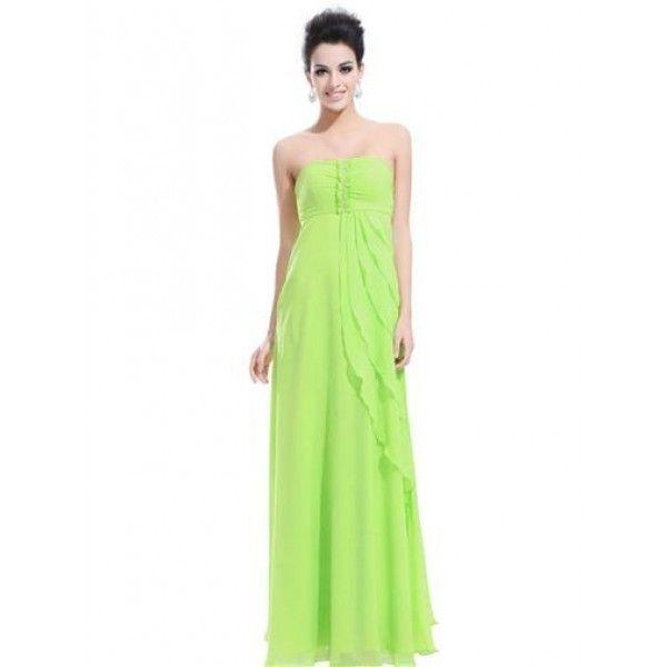 Салатовое платье без бретель
