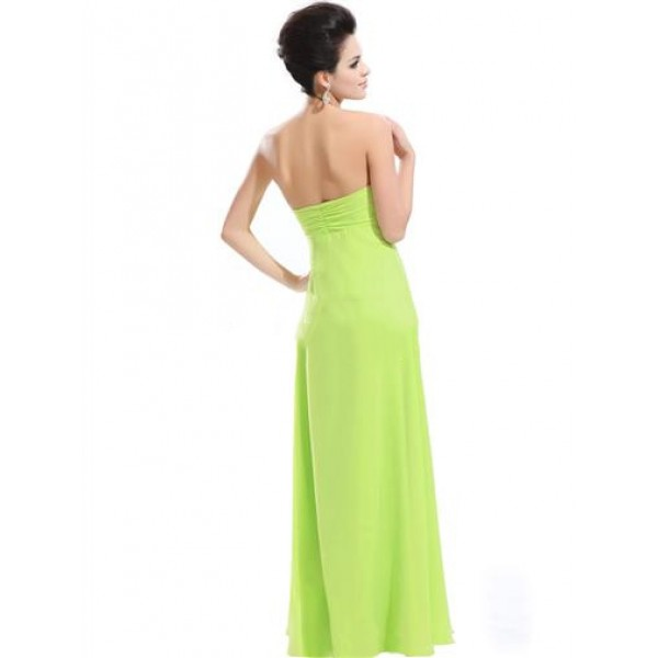 Light green dress without straps. Артикул: IXI23762