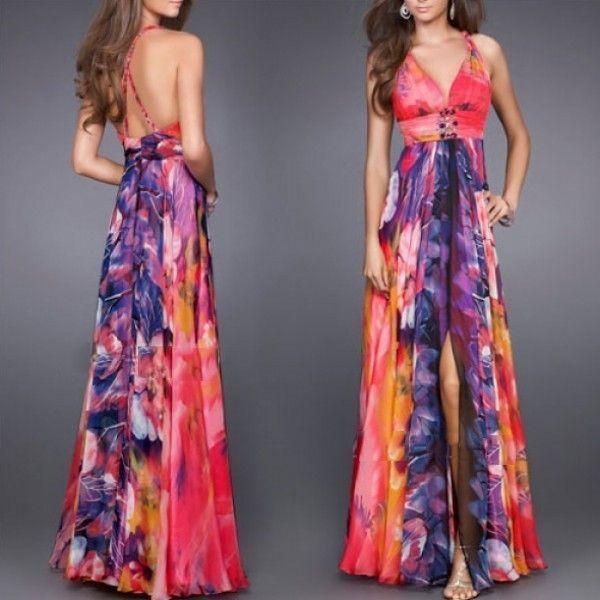 РАСПРОДАЖА! Платье с разрезом и цветочным принтом