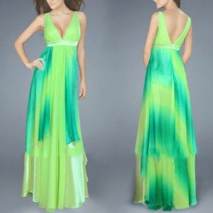 Light green dress with shimmering. Артикул: IXI23773