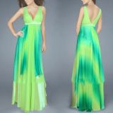 РАСПРОДАЖА! Салатовое платье с переливами по оптовой цене
