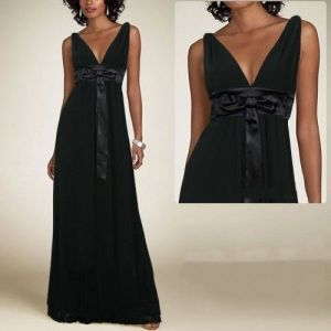 SALE! Black dress with bow at waist