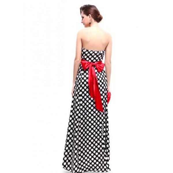 Polka dot dress with red bow. Артикул: IXI23821
