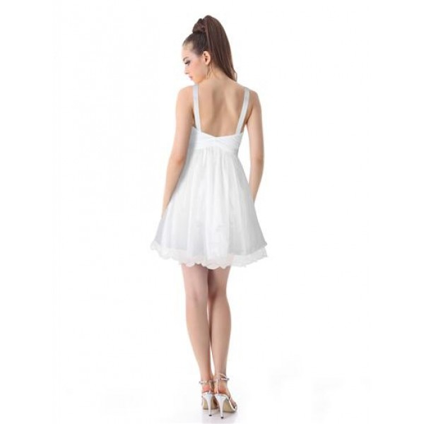 Double layer dress with shimmering sequins white. Артикул: IXI23855