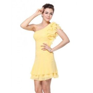 SALE! Dress with voluminous sleeve one shoulder