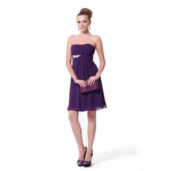 Платье с серебристой брошью