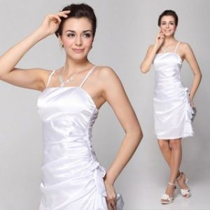 Elegant dress with bow white. Артикул: IXI23938