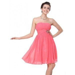 SALE! Dress with shirred bodice without straps