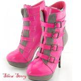 РАСПРОДАЖА! Розовые лаковые ботиночки на каблуке цена фото