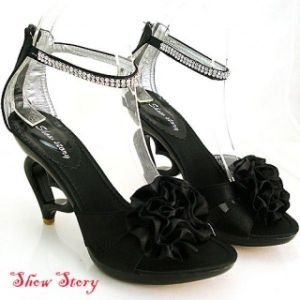 SALE! Black sandals with black bow