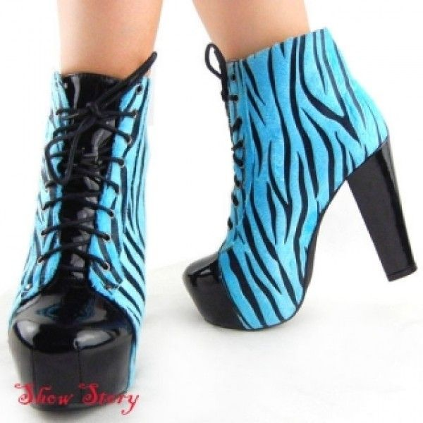 SALE! Blue Zebra shoes with heels
