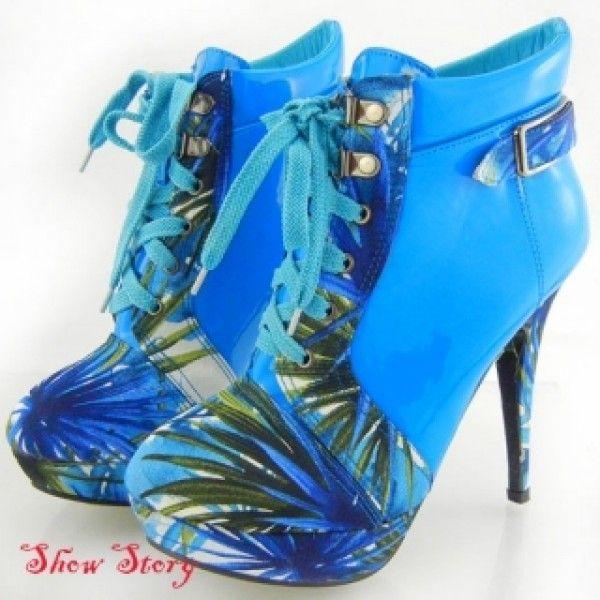 SALE! Blue ankle boots