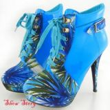 SALE! Blue ankle boots