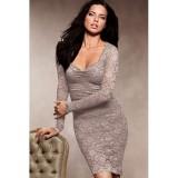 Длинное серое платье цена фото
