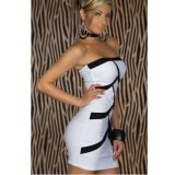 Черно-белое платье без бретель по оптовой цене