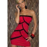 Черно-красное мини платье по оптовой цене