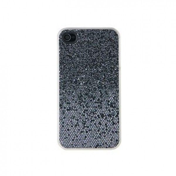 РАСПРОДАЖА! Блестящий пластиковый чехол для iPhone 4S (черный)